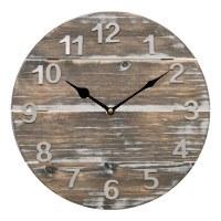 "12"" Round Driftwood Clock"