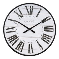 "21"" Round White and Black Clock"