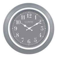 "18"" Round Gray and White Clock"