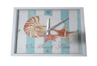 "12"" Square On Beach Time Clock"