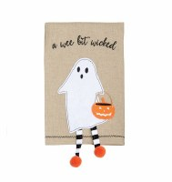 "21"" x 14"" Ghost With Dangle Legs Kitchen Towel"