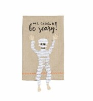 "21"" x 14"" Mummy With Dangle Legs Kitchen Towel"