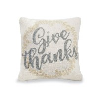 "16"" Square Give Thanks Pillow"