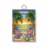 "4"" Small Rectangle Seaside Suncatcher"