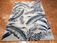 3.3' x 5.3' Gray and Blue Tropics Havana Rug