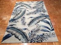5' x 8' Gray and Blue Tropics Havana Rug