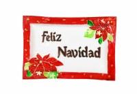 "9"" x 14"" Feliz Navidad Glass Platter"