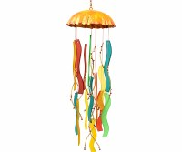 "17"" Multicolored Jellyfish Windchime"