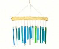"12"" Blue and Green Glass Bars Windchime"