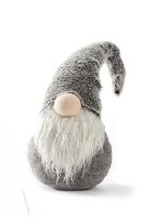 """8"""" Gnome With Gray Solid Hat"""