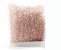 "17"" Square Pink Faux Fur Pillow"