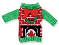 Fire Place Sweater Bottle Cover