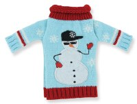 Snowman Sweater Bottle Cover