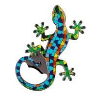 "4"" Multicolored Gecko Bottle Opener"