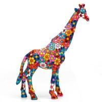 "7"" Multicolored Flower Mosaic Giraffe"