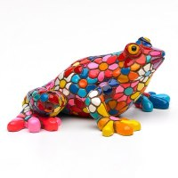"5"" Multicolored Flower Mosaic Frog"
