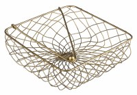 """8"""" Square Distressed Finish Wire Lunch Napkin Holder"""