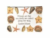 Sanibel Friends Shells Zipper Bag