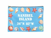 Sanibel Seashells Zipper Bag