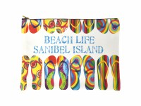 Sanibel Beach Life Zipper Bag