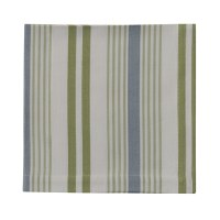 "20"" Blue and Green Stripe Succulent Napkin"