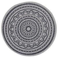 """15"""" Round Navy Zuri Medallion Placemat"""