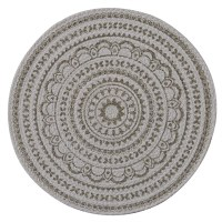 """15"""" Round Mushroom Zuri Medallion Placemat"""