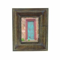 """5"""" x 7"""" Verdigris Wash Wooden Frame"""
