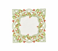 """14"""" Square Holly Placemat"""
