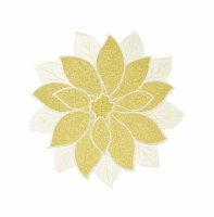 """14"""" Round Gold Poinsettia Placemat"""