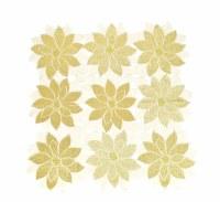 """36"""" Square Gold Poinsettia Topper"""