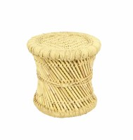"""15"""" Round Natural Woven Stool"""