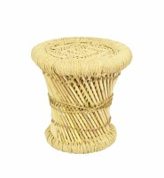 "12"" Round Natural Woven Stool"
