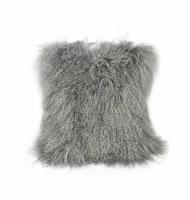 "16"" Gray Wool Pillow"