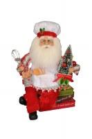 "13"" Baking Santa Figurine"