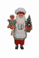 "17"" Gingerbread Santa Figurine"