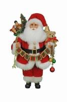 "17"" Red Believe Santa Figurine"