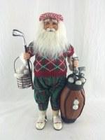 """16"""" Golf Santa Figurine"""