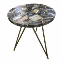 """17"""" Round Blue Agate Table Top"""