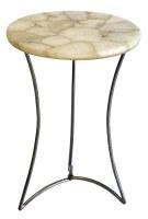 "17"" Round Cream Agate Table Top"