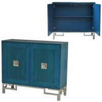 "40"" Dark Blue 2 Door Cabinet"