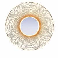 """29"""" Round Gold Wire Mirror"""
