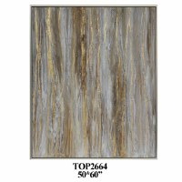 """60"""" x 50"""" White, Brown and Gold Abstract Framed Canvas"""