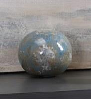 """6"""" Aqua and Blue Ceramic Orb"""