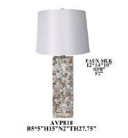 """27"""" Mother Of Pearl Rectangle Table Lamp"""