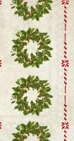 "8"" x 4"" Holly Wreath Guest Towel"