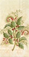 """8"""" x 4"""" Holly Sprigs Guest Towel"""
