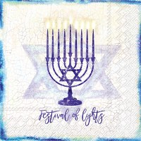 "5"" Menorah Beverage Napkin"