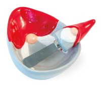 "5"" Gnome Ceramic Dip Bowl With Spreader"