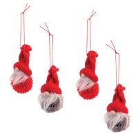 "Box of 4, 2.5"" Gnome Ornaments"